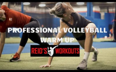 Inside look at Volleyball Stars Sophie Bukovec & Alex Poletto Strength Training   Part 1: The Warm Up
