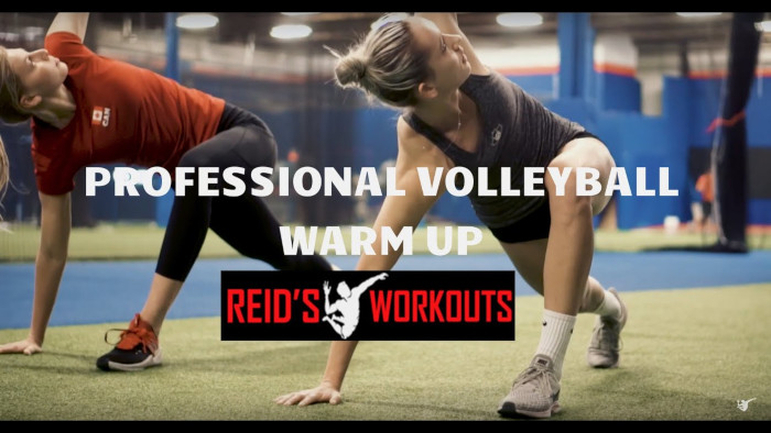Professional Volleyball Warm up with Athletes with Sophie Bukovec and Alex Poletto at Reids Workouts