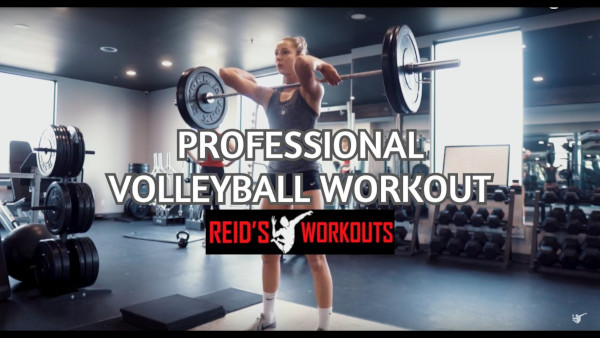 Professional Volleyball workouts for Athletes with Sophie Bukovec and Alex Poletto at Reids Workouts