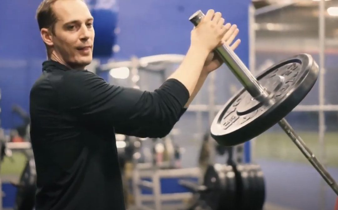 How to Landmine Push Press   Barbell Push/Olympic Lift Variation