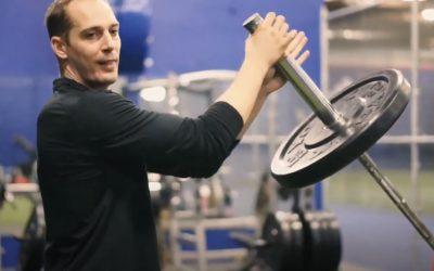 How to Landmine Push Press | Barbell Push/Olympic Lift Variation